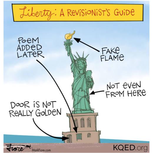 Statue Of Liberty Poem Politics Mark Fiore Drawn To The