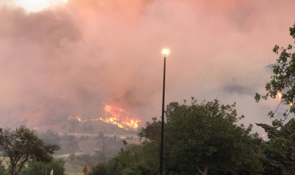 Canyon Fire Continues to Burn in Corona-Anaheim Area