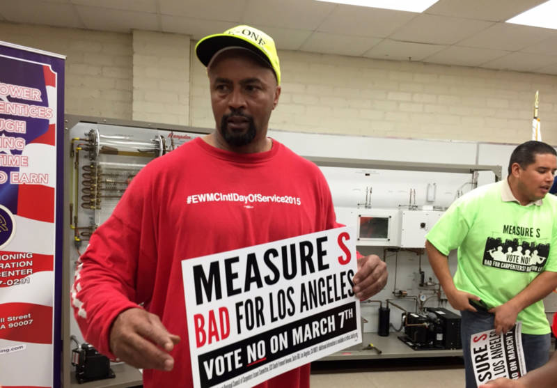 Housing activists joined forces with labor unions to defeat the anti-development Measure S this spring.
