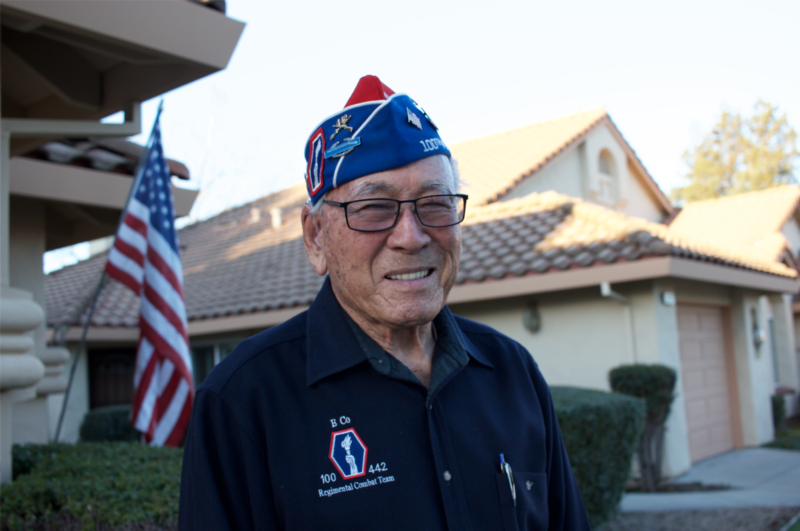 Lawson Sakai, a World War 2 veteran who fought with the 442 Regimental Combat Team.