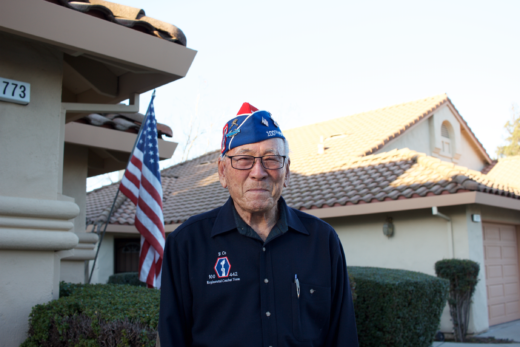 Lawson Sakai, a World War II veteran who fought with the 442 Regimental Combat Team.