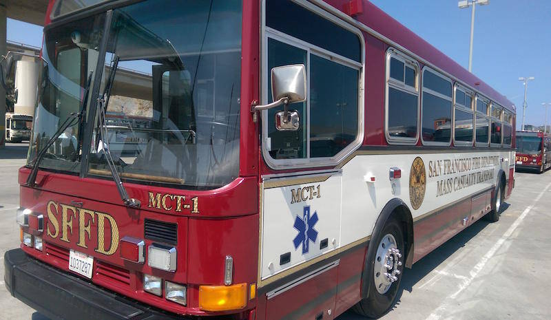 Since coming online, the fire department has only used the ambulance buses to transport patients once. They transported seniors after a convalescent home lost power in Burlingame.