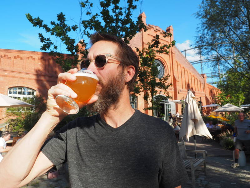 Stone Brewing co-founder and chairman Greg Koch sips a Berliner Weisse, a German sour beer.