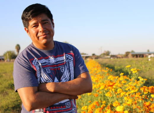 Antionio Chavez leases a 7-acre farm from a family friend to grow what he grew in Oaxaca: squash, chilies and marigolds.