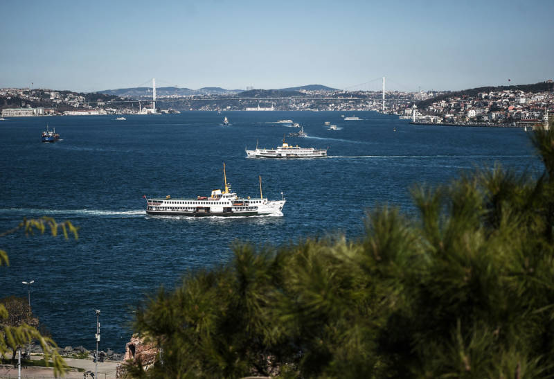 Ferry boats criss-cross the Bosphorus Strait off Istanbul, one of the world's busiest shipping channels. Crossing it safely is a huge challenge for a blind kayaker.
