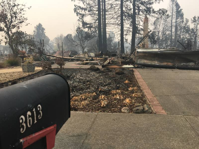 Linda Jacobson, a 70-year-old resident of Santa Rosa, lost her home and her two cats when the fast-moving Tubbs fire jumped the freeway and burned through this residential neighborhood.