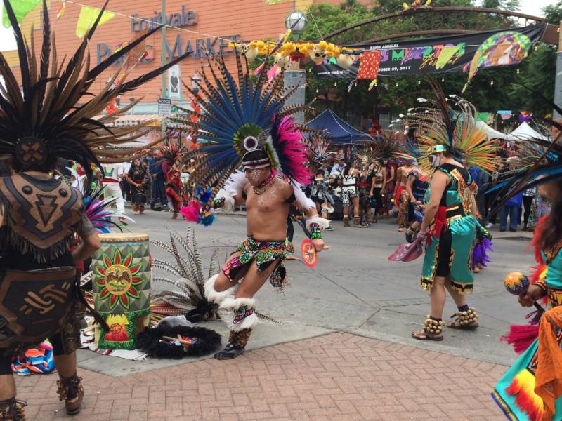 Aztec dancers helped open the 2017 festivities.