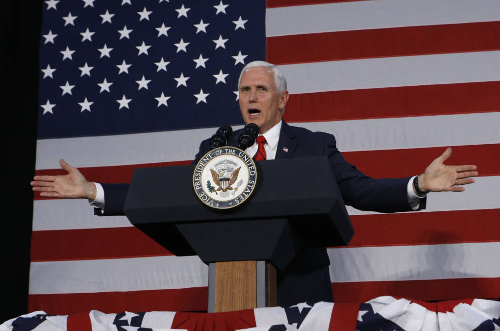 Vice President Mike Pence walked out of the San Francisco 49ers game against the Indianapolis Colts after several 49ers knelt during the national anthem.