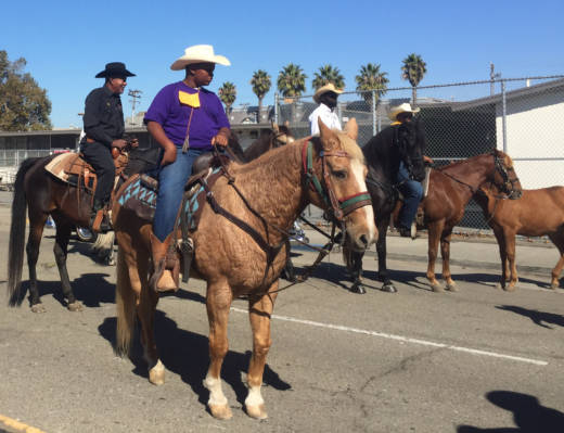 10-year-old Erik Smith was one of many riders at the annual parade hosted by the Oakland Black Cowboy Association. He's been riding since he was seven years old.