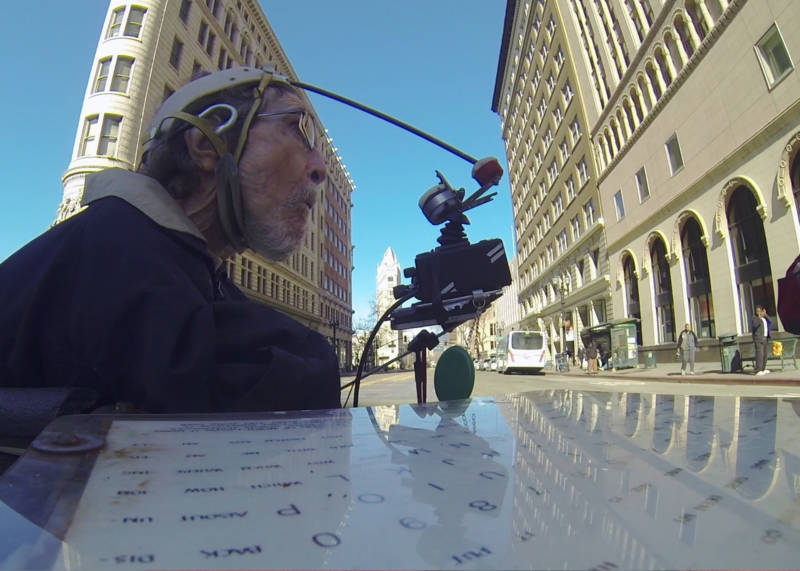 Filmmaker Brad Bailey affixed a camera to Hale Zukas' wheelchair, to show his perspective as he zooms around the Bay Area.