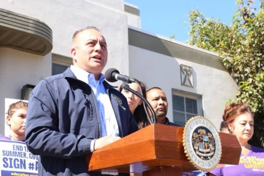 Assemblyman Raul Bocanegra at a political event on Sept. 26, 2017.