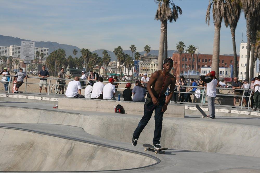 Skateboard park, Venice Beach