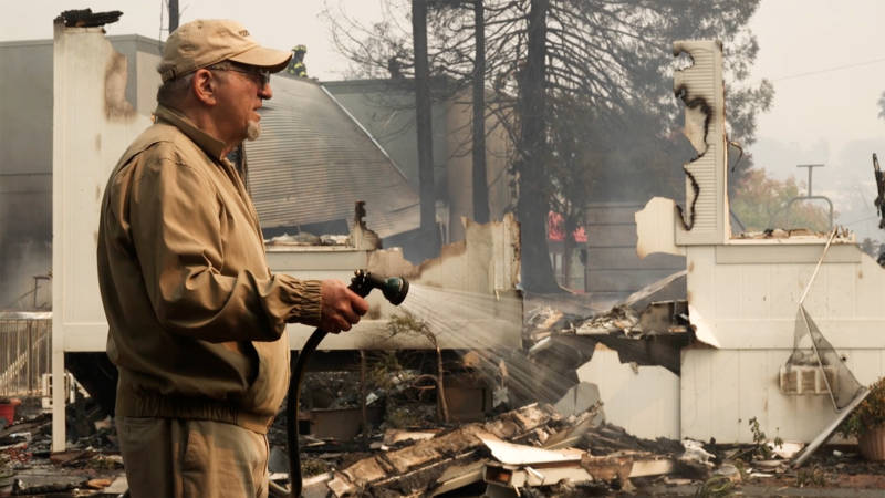Dan Kanights lives at Coddington Mobile Home Park in Santa Rosa directly across the street from 12 homes that were destroyed in the Tubbs Fire.