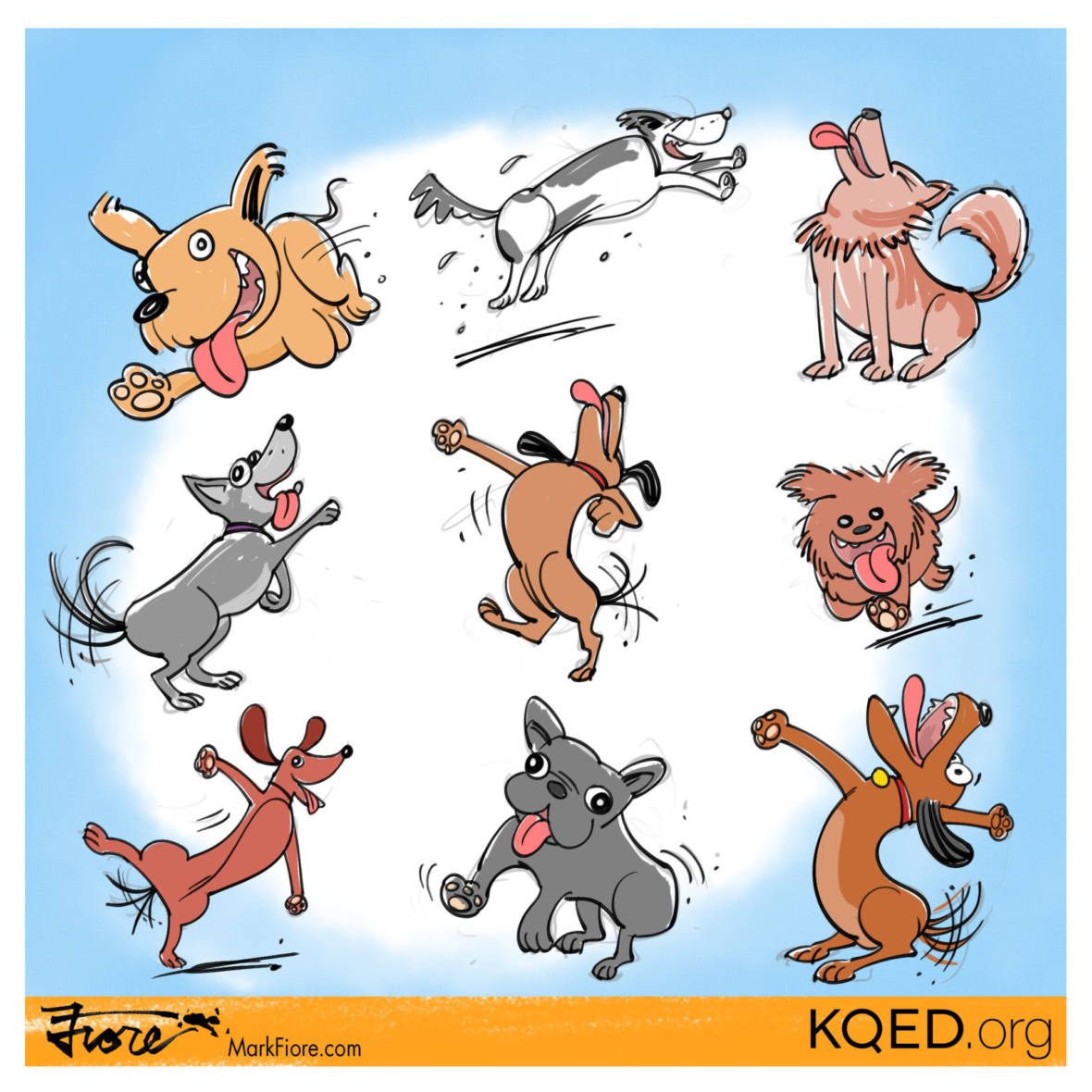 Dogs by Mark Fiore