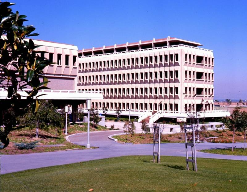 Large buildings on UC Irvine campus, 1966