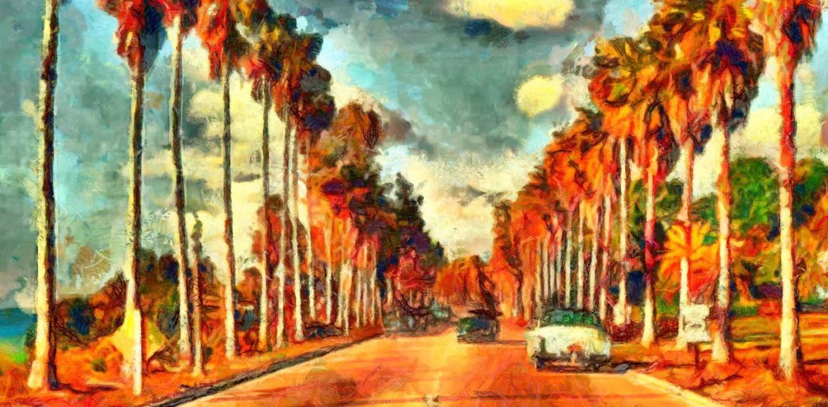 "Is the California Dream still alive and well? <a class=""source"" href=""https://www.shutterstock.com/image-illustration/vintage-california-view-oil-painting-526016404?src=oiGDFrNPr3v9ETEZq1Km2w-1-0"">Ivan Aleshin/shutterstock.com</a>"