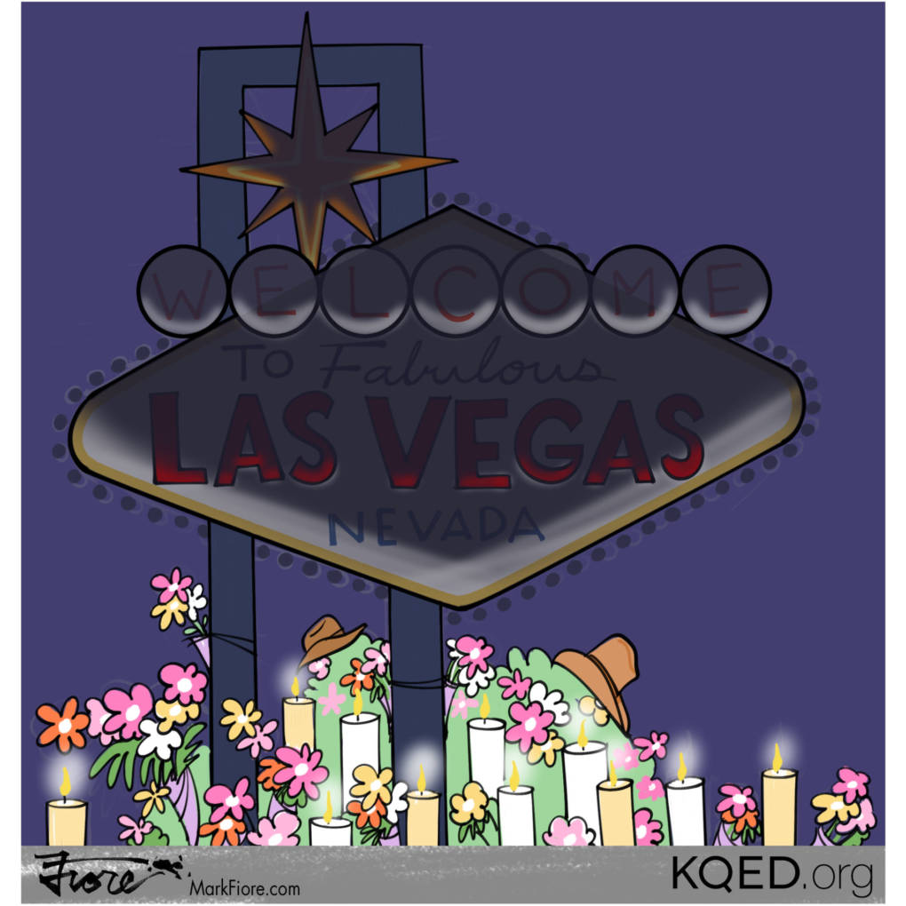 Las Vegas Memorial by Mark Fiore