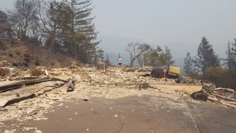 Nothing was left but the car and ashes after the Tubbs Fire engulfed Sharon Robinson's home.