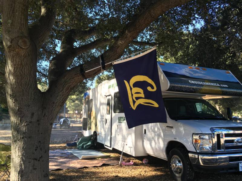 Cal fans were also out to represent their team. Since Cal doesn't have the same space for tailgating at Stanford, some fans were excited for the opportunity to get together ahead of the Big Game.
