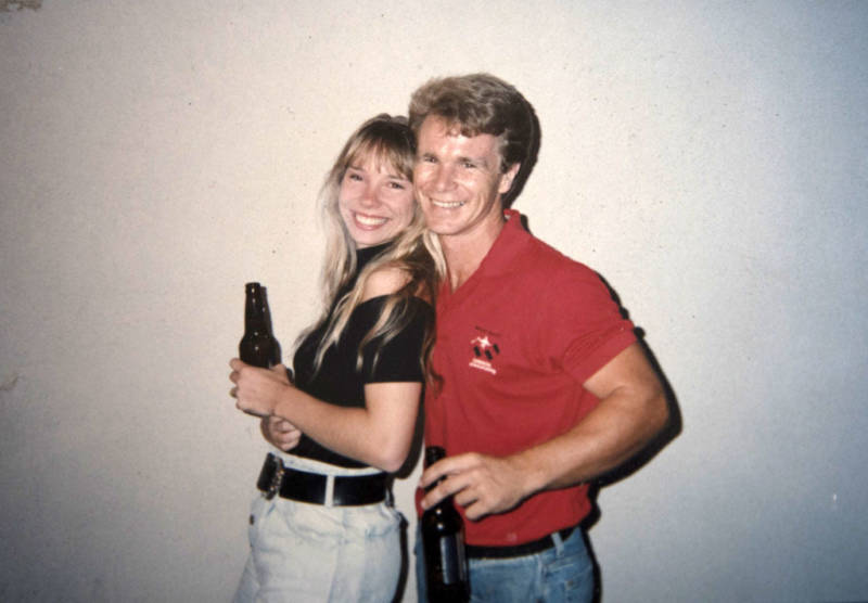 A photograph shows Bob and Lisa Patterson when they first met. Lisa was killed during the Oct. 1 attack in Las Vegas.
