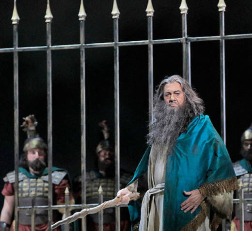 Plácido Domingo in LA Opera's 2017 production of Giuseppe Verdi's 'Nabucco.'