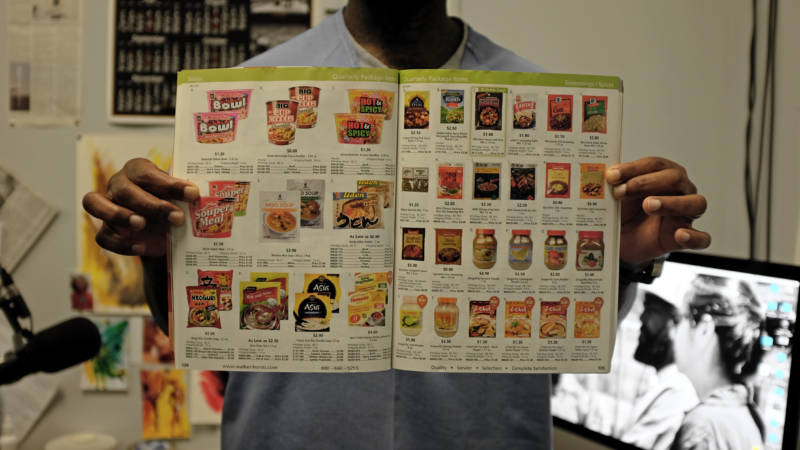 The food catalog at San Quentin State Prison.