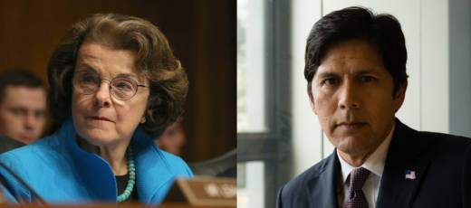 Sen. Dianne Feinstein and her main Democratic rival, Senate President Pro Tem Kevin de León.