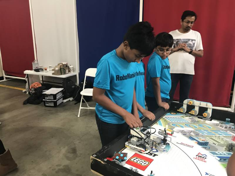 Roan Kher and Dhruv Nemani are part of the Robomaniacs team. The sixth graders were just some of many Bay Area students competing in the STEM competition.