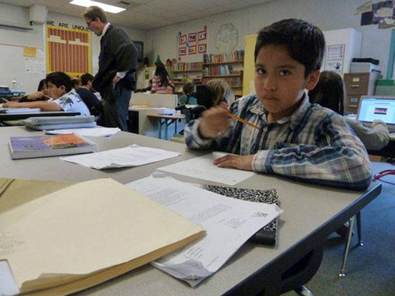 Harry Mendez attends Randall Elementary School in Milpitas, California.