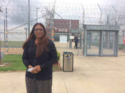 Daletha Hayden's youngest son, William Mitchell, is one of 4,000 California prisoners currently serving time out of state.