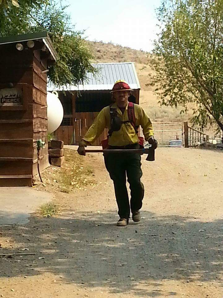 Garrett Angel Paiz traveled throughout the country helping to fight wildfires.