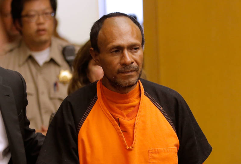 Jose Ines Garcia Zarate, who is also known as Juan Francisco Lopez Sanchez, enters court for an arraignment on July 7, 2015 in San Francisco.