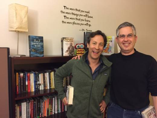 """David Eagleman (L) and Anthony Brandt (R) are the co-authors of """"The Runaway Species: How Human Creativity Remakes the World."""""""