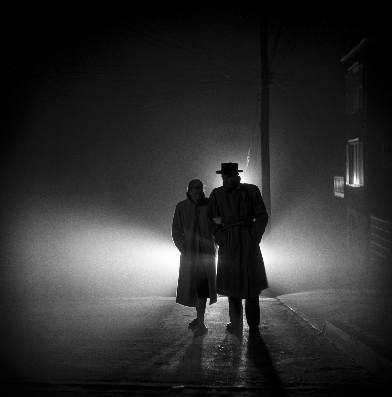 "Fred Lyon shot ""Foggy Night, Lands End"" on a classic San Francisco evening, not far from the Pacific Ocean. It is one of his most successful photographs."