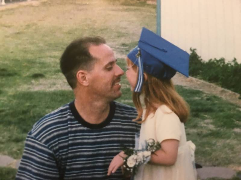 Daniel Lee Humphreys with his daughter before his death in 2008.