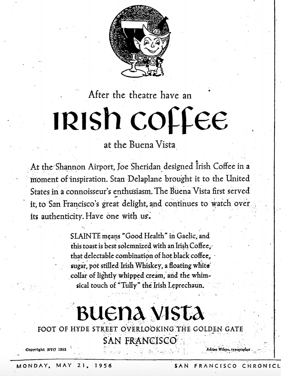 The True History of Irish Coffee and Its San Francisco ...