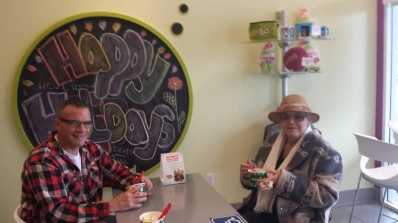 Valerie Lynn Evans, right, with her son, Houston Evans Jr.