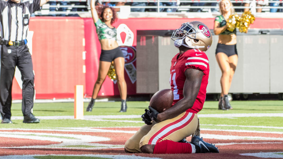 Marquise Goodwin Plays In 49ers' Win; Afterwards He Says, 'We Lost Our Baby Boy'