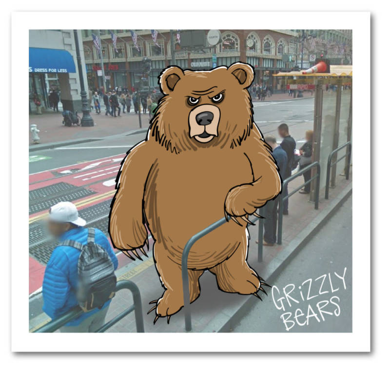 Grizzly Bear by Mark Fiore