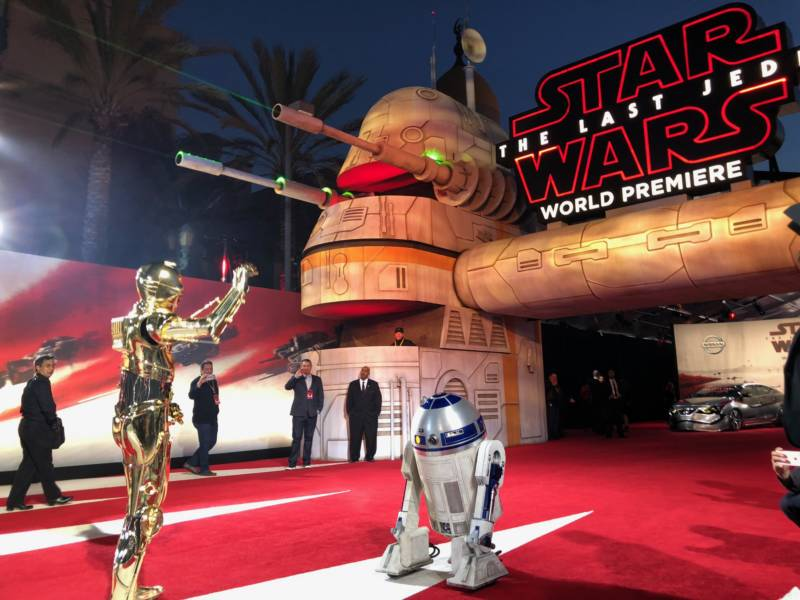 "The ""Star Wars: The Last Jedi"" world premiere was held in Los Angeles on Saturday, Dec. 9, 2017. Some lucky Bay Area fans were able to be there because of their involvement in local Star Wars costume clubs."