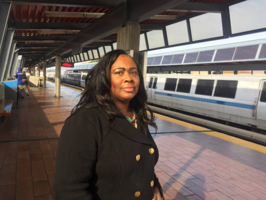 Wanda Johnson, Oscar Grant's mother, stands on the same BART platform where her son was shot and killed by a BART police officer on New Year's Day 2009. She spends a lot of time in the community where she helps support at-risk youth as well as family members who have lost loved ones to police violence.