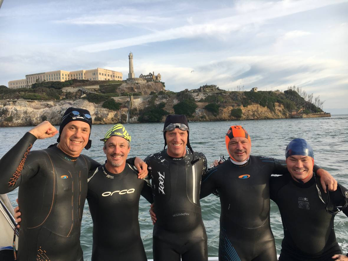 'I Technically Died': Man Swims From Alcatraz to S.F. 16 Months After Massive Heart Attack