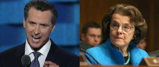 Democrats Gavin Newsom and Dianne Feinstein are leading the polls in California's governor's and U.S. Senate races, respectively.