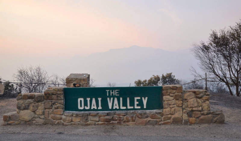 Smoke from the Thomas Fire fills the Ojai Valley on December 13, 2017.
