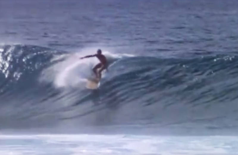 Bruce Brown captured this, the first footage of anyone surfing the infamous Banzai Pipeline off Oahu, Hawaii.