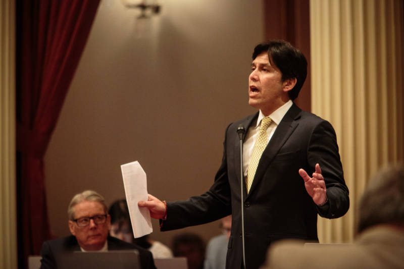 Senate leader Kevin de Léon, author of the California Values Act.
