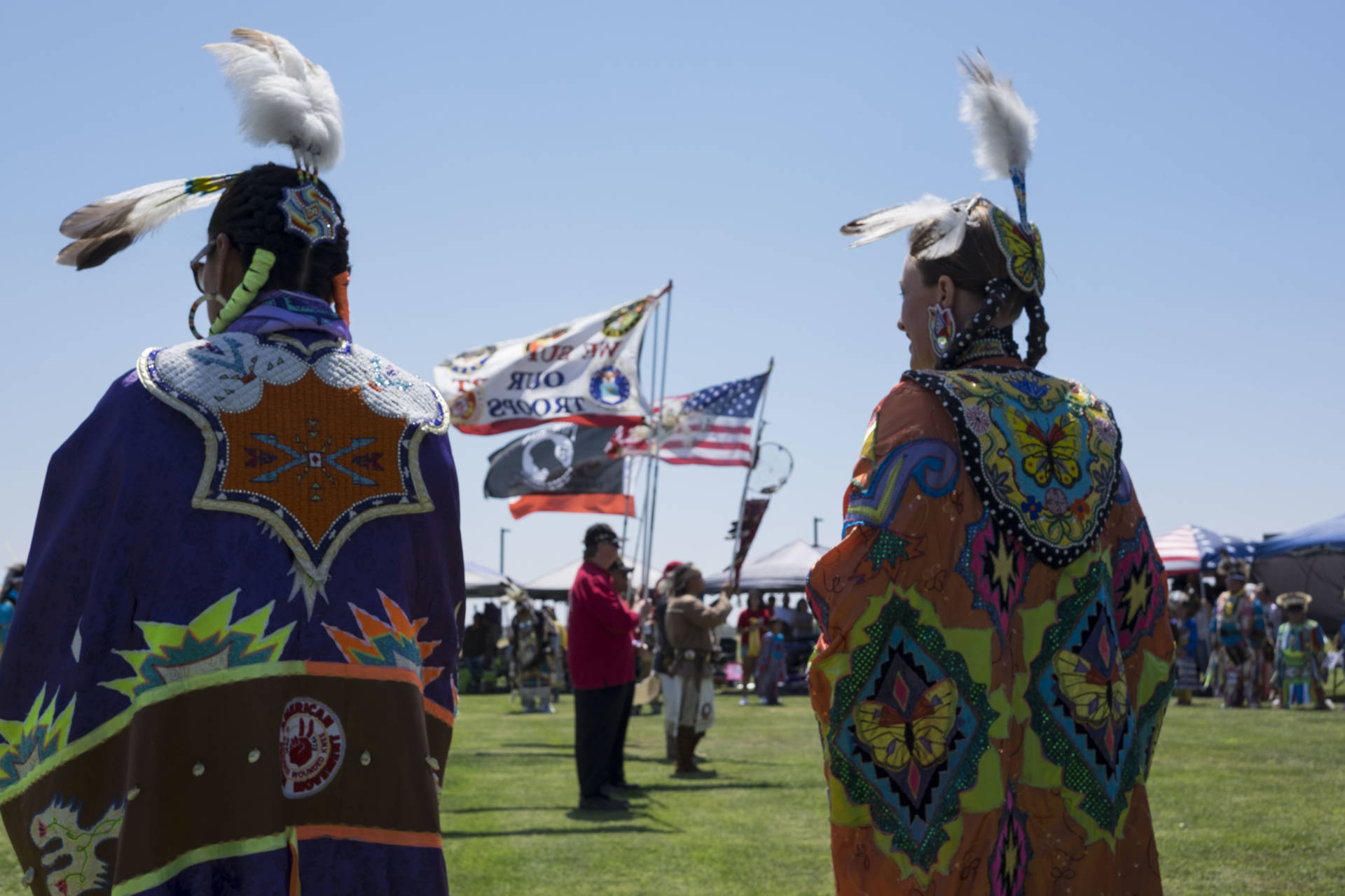 A dance circle during the Sierra Mono Museum's  powwow in 2015. Vanessa Rancano/KQED