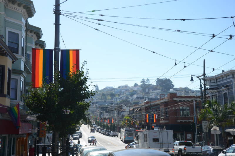 San Francisco's Castro District on Oct. 27, 2017. Many of the neighborhood's gay residents have been priced out in recent years.