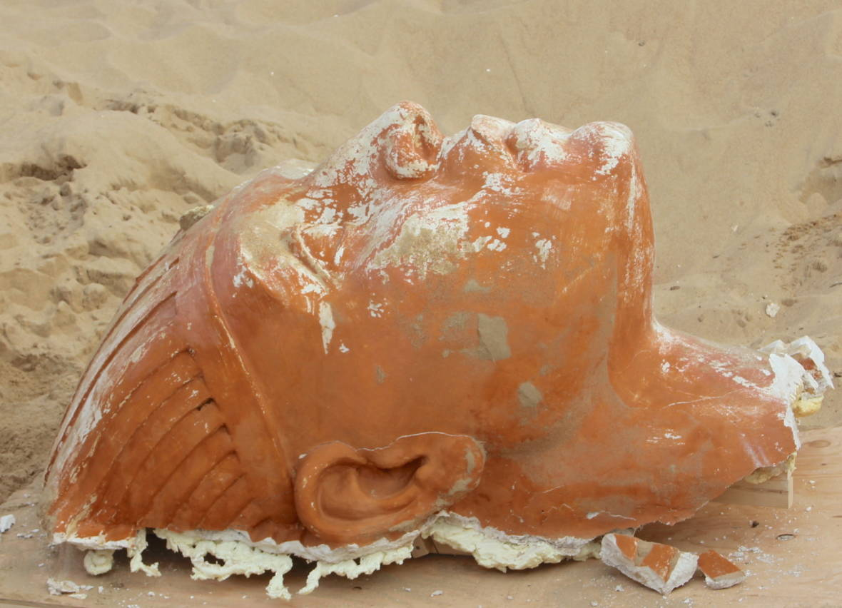Archaeologists Excavate Sphinx from SoCal Sand Dunes