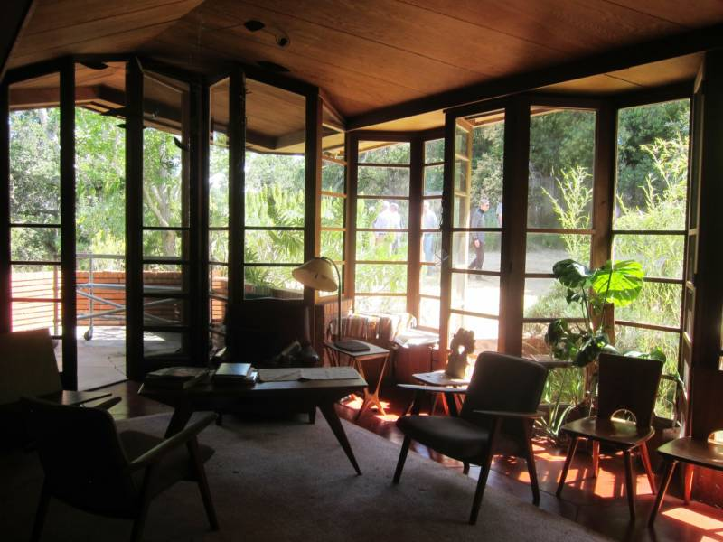 The Bazett house of Hillsborough was designed by Frank Lloyd Wright. After renting it, Joseph Eichler was so impressed, he launchd into a new career as a design-savvy tract house developer.